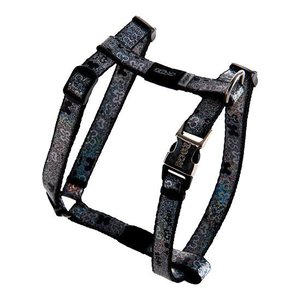 Rogz Dog Harness Trendy Black Bones