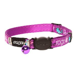Rogz Kattenhalsband FancyCat Purple Lovebirds