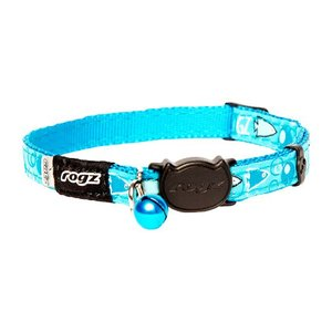Rogz Cat Collar FancyCat Turquoise Bubble Fish