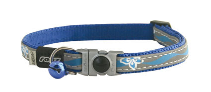 Kattenhalsband NightCat Blue Floral