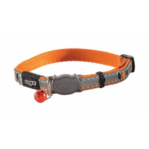 Rogz Kattenhalsband NightCat Orange Birds