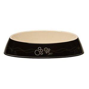 Rogz Cat Bowl Black Paws