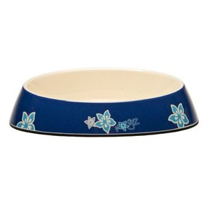 Rogz Cat Bowl Blue Floral