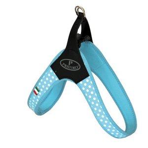 Pratiko Dog Harness Blue Polka Dot with Clip
