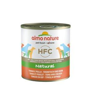 Almo Nature Hondenvoer HFC Tonijn met Kip 12 x 290 gr
