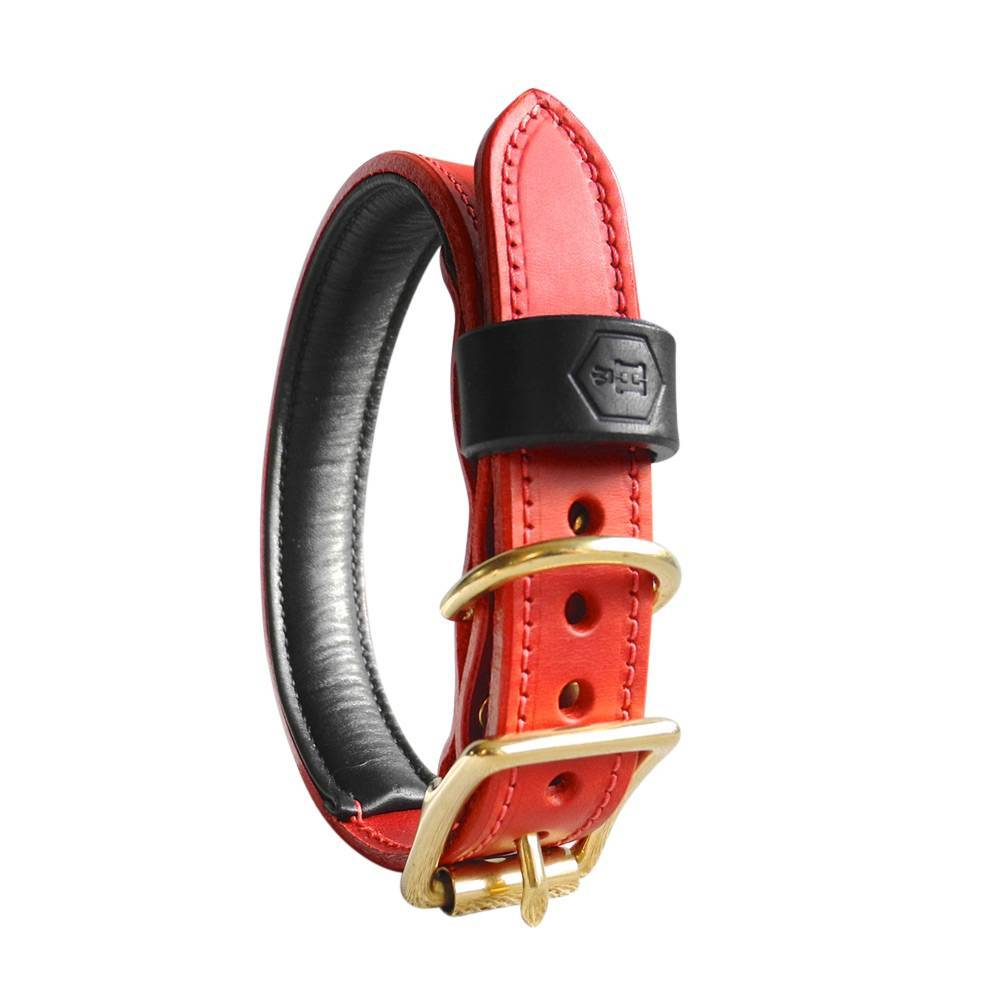 Hondenhalsband Bridle Leather Oxblood Red