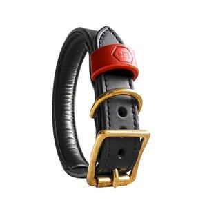 Houndworthy Hondenhalsband Bridle Leather Jet Black