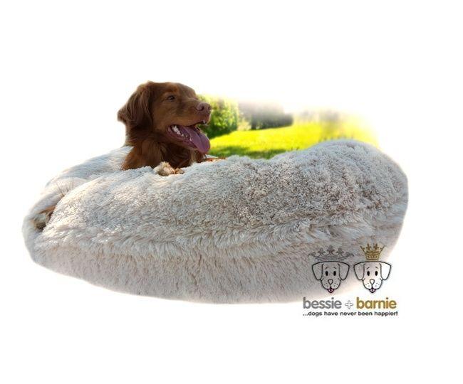 Bessie And Barnie Dog Bagel Bed Blon