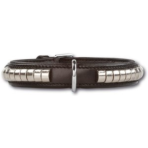 Doxtasy Dog Collar Silver Row Black