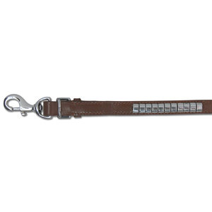 Doxtasy Dog Leash Silver Row Brown