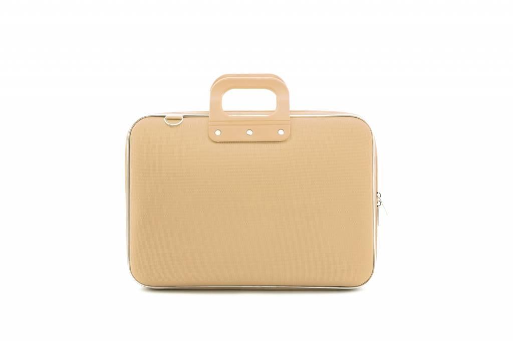 Nylon Laptoptas 15,6 Inch Grijs-Bruin
