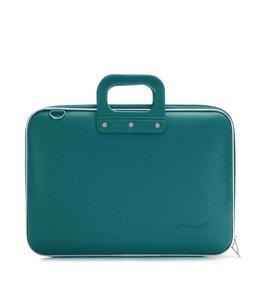 Bombata Classic Laptoptas 15,6 inch Groen/Blauw
