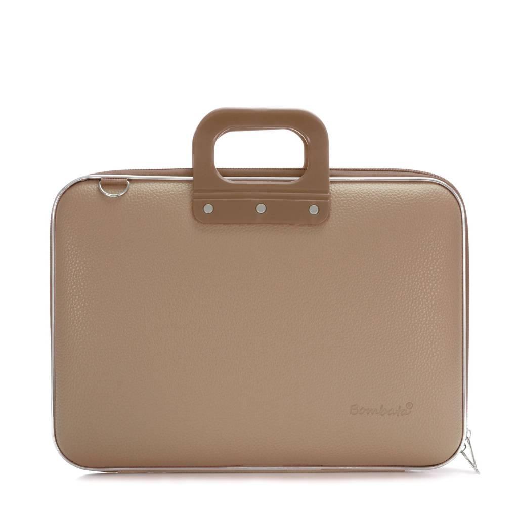 Classic Laptoptas 15,6 inch Grijs/Bruin