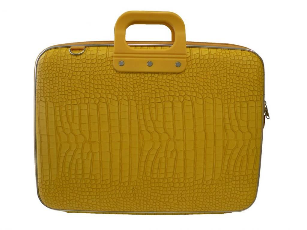 Schoudertas Laptop 13 Inch : Bombata cocco laptoptas inch geel mat