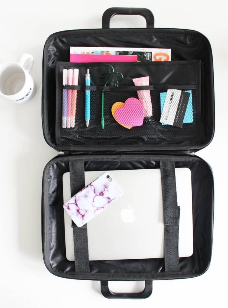 Schoudertas Laptop 13 Inch : Bombata medio laptoptas inch zwart