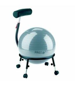 Palosit Balstoel 121B - Pallosit zitbal - in hoogte verstelbaar - Zilver grijs