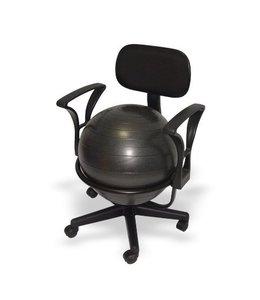 ErgonomieWinkel.nl Bureau balstoel voor volwassenen (zitbal) met lendensteunen