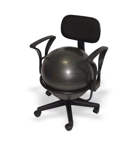 Bureau balstoel voor volwassenen (zitbal) met lendensteunen