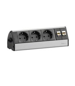 Evoline Dock Desk Data Zonder Klem (3x230V)(2x RJ45)