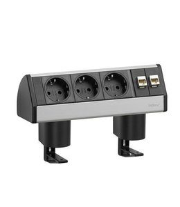 Evoline Dock Data Small Met Klem (3x230V) (2x RJ45)
