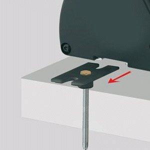 Evoline u dock montage set opbouwinstalatie set voor tafels:bestaat uit evoline dock clips en bouten met ...