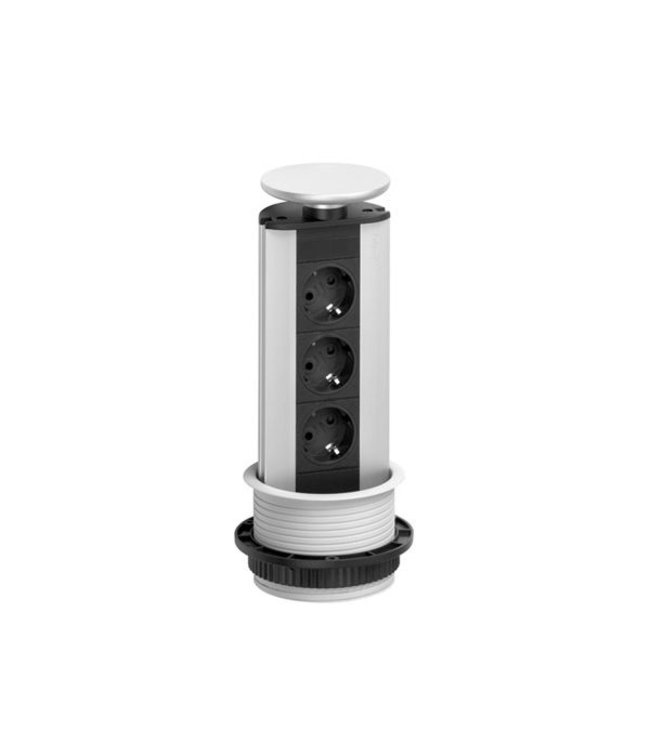 Evoline Port Data Zwarte Uitvoering (3x230V) (2xRJ45)