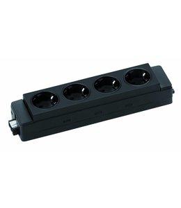 Evoline Express 910 4-weg stekkerblok Zwart Connector 3-polig