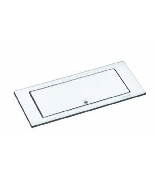 Evoline BackFlip Glass top (2x230V)(1x USB) Wit