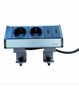 Evoline Dock Data Small Met Klem (2x230V) (2x USB LADER)