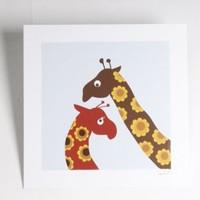 Blafre Design print giraffe, 23 x 23 cm