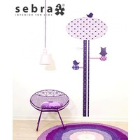 Sebra interior for kids muursticker groeimeter