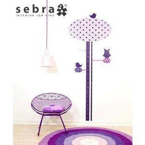 Sebra interior for kids muursticker groeimeter