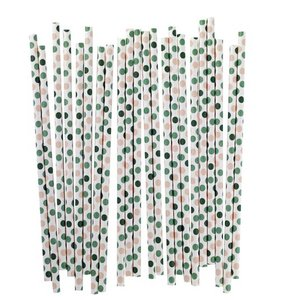 Blafre Design 25 paper straws with dots