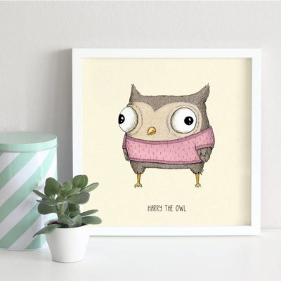 A Grape Design poster owl Harry