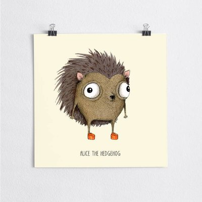 A Grape Design poster hedgehog Alice