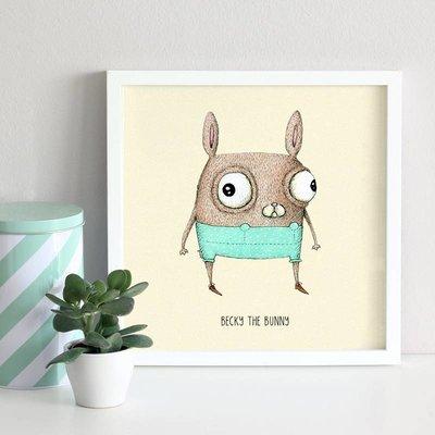 A Grape Design poster rabbit Becky