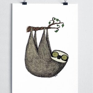 A Grape Design poster sloth
