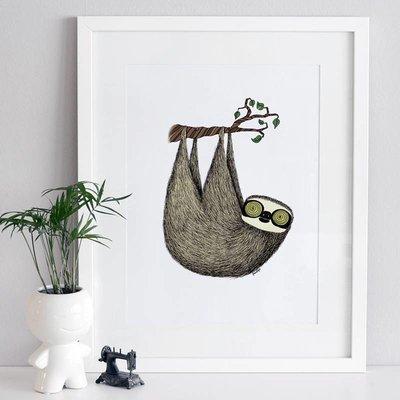 A Grape Design poster sloth