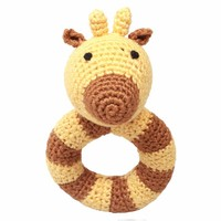 nature zoo of denmark giraffe rattle with ring