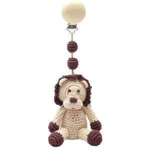 nature zoo of denmark baby mobile with clip lion