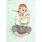 Fabelab crib blanket storytelling mint / green