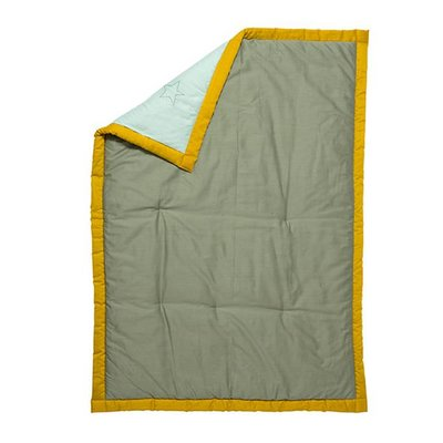 Fabelab crib blanket storytelling mint / green