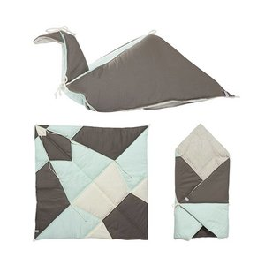 Fabelab Play blanket folded bird Jade