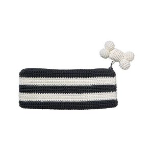 Franck & Fischer pencil case with dog bone, grey