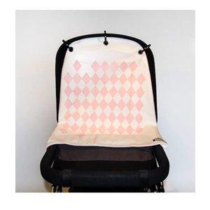 Kurtis rose harlekijn gordijn voor kinderwagen en autostoel