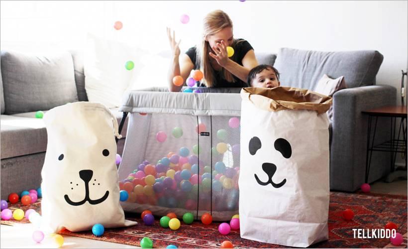 Tellkiddo paper storage bags