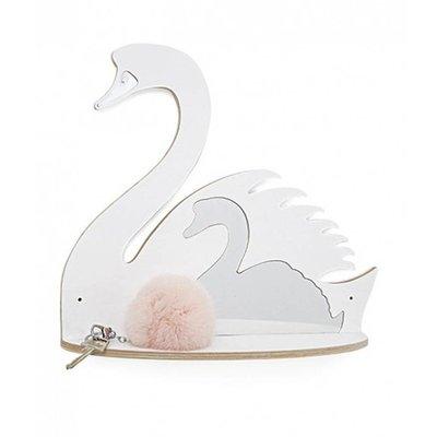 Thats Mine wandplank witte zwaan met spiegel