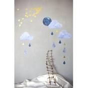 Fabelab Wand-Aufkleber dreamy clouds nightfall