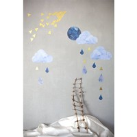 Fabelab wall stickers dreamy clouds nightfall