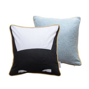 Frank & Poppy black/white/grey cushion superhero